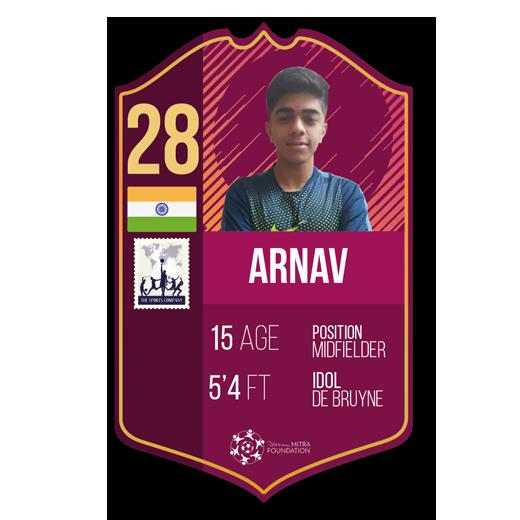 Arnav Vig fut card midfielder