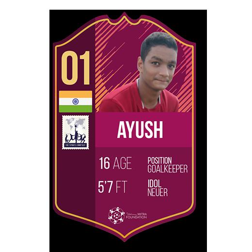 Ayush Rawat fut card goalkeeper