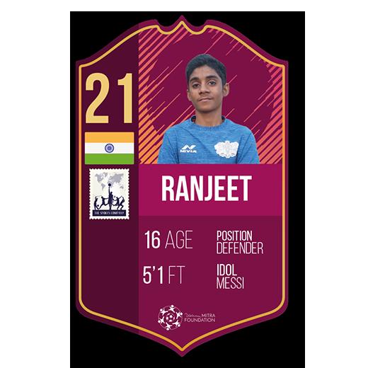 Ranjeet Rajak fut card defender